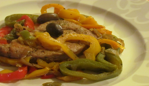 pork chop with bell pepper