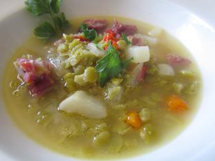 Organic Split Pea Soup with Ham Recipe | MyOrganicRecipes