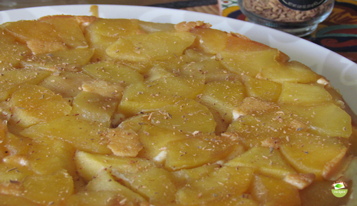 organic apple and ricotta