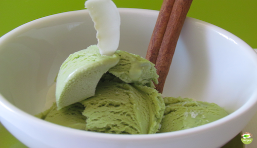 organic green tea ice cream 2