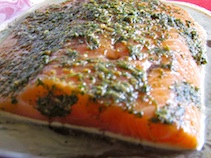 marinade organic salmon
