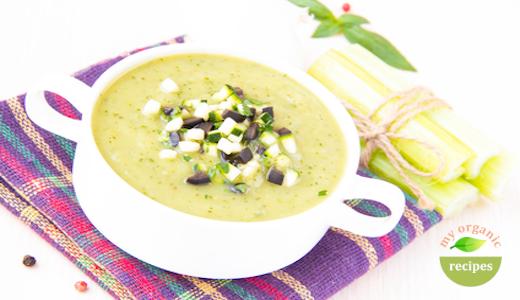 organic cucumber avocado soup
